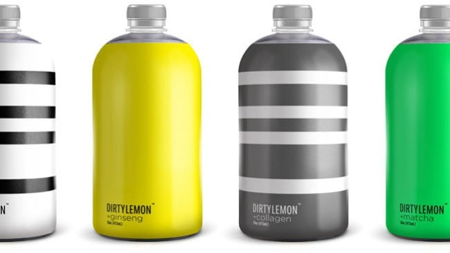 A selection of Dirty Lemon's bottles, all highly instagrammable of course. Photo: Supplied