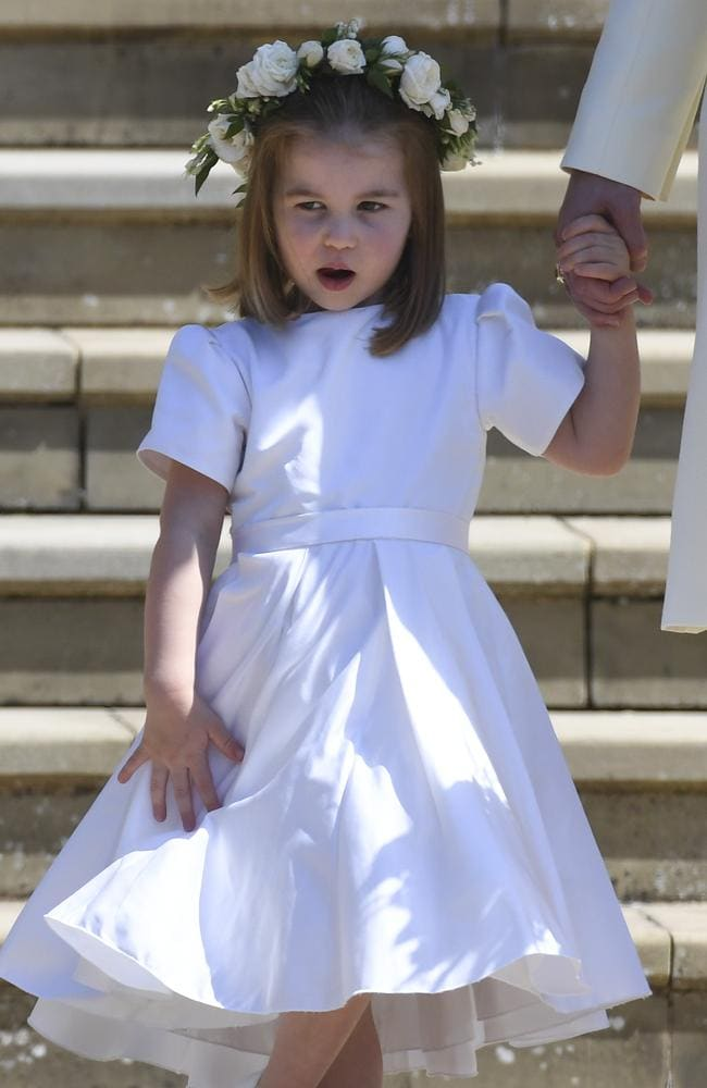 The new law of royal succession means Princess Charlotte is fourth in line to the throne ahead of brother Prince Louis. Picture: Ben Cawthra/Sipa USA/MEGA