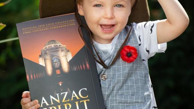 Magnus gets into the spirit of Anzac with the Herald Sun's upcoming Anzac Spirit Official 2018 Coin Collection, starting October 27. Picture Jay Town