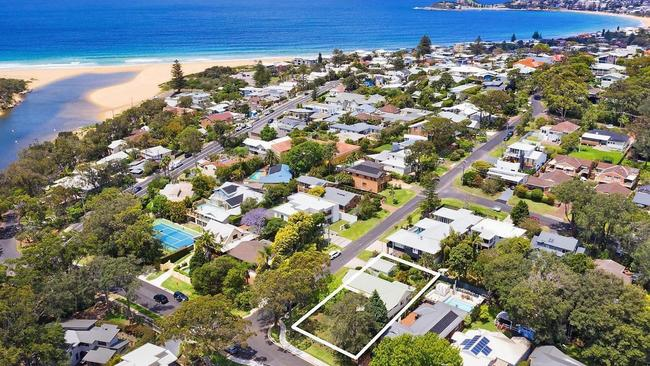 The home was just a stones throw from the sandy shores of Wamberal beach.