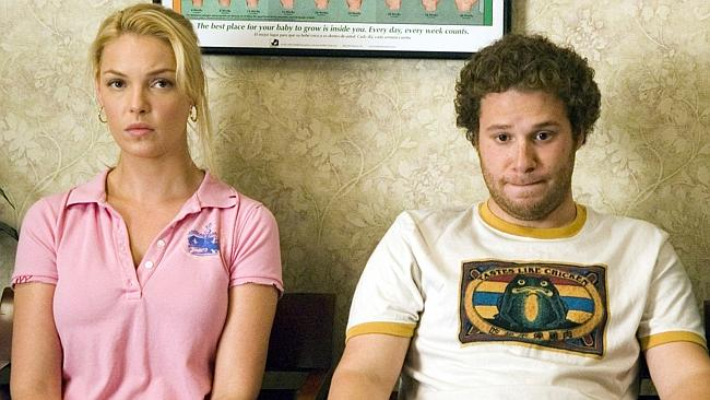 "Katherine Heigl and Seth Rogen in ""Knocked Up""."