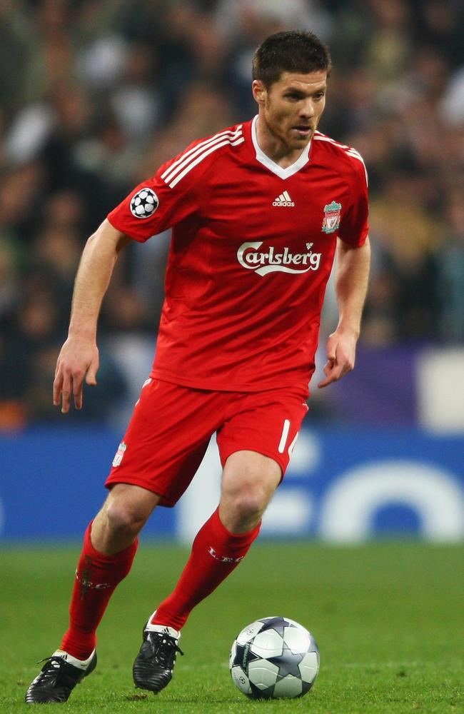 Xabi Alonso won Champions League titles with Real Madrid and Liverpool.