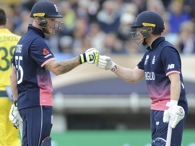Ben Stokes, left, and captain Eoin Morgan are central to England's ruthless batting line-up.
