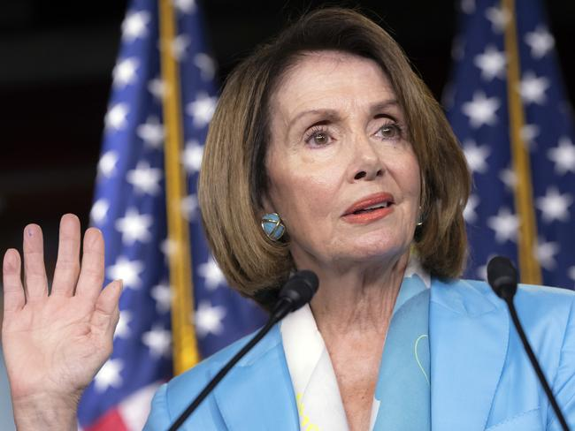 House Minority Leader Nancy Pelosi says 3D guns are a death warrant for innocent people. Picture: AP