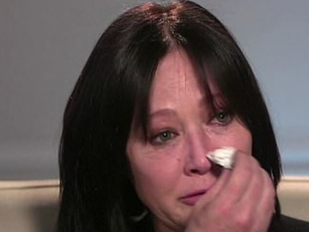 A tearful Shannen Doherty revealed on US TV this week that her cancer had returned. Picture: ABC News