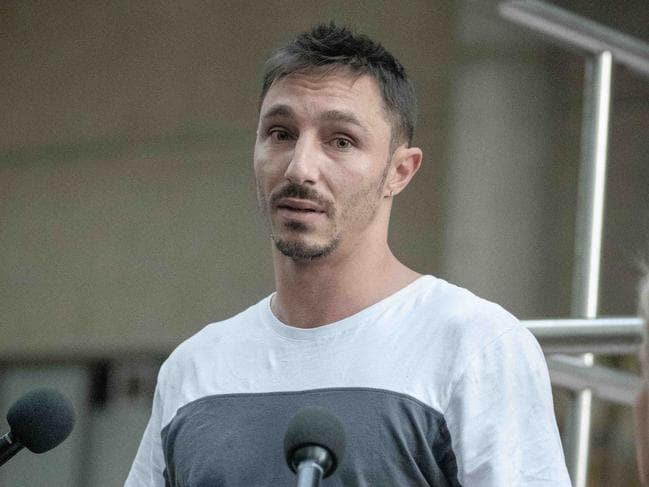 Keiren Noonan pleaded guilty to assaulting a female police officer. Picture: Flavio Brancaleone/Daily Telegraph