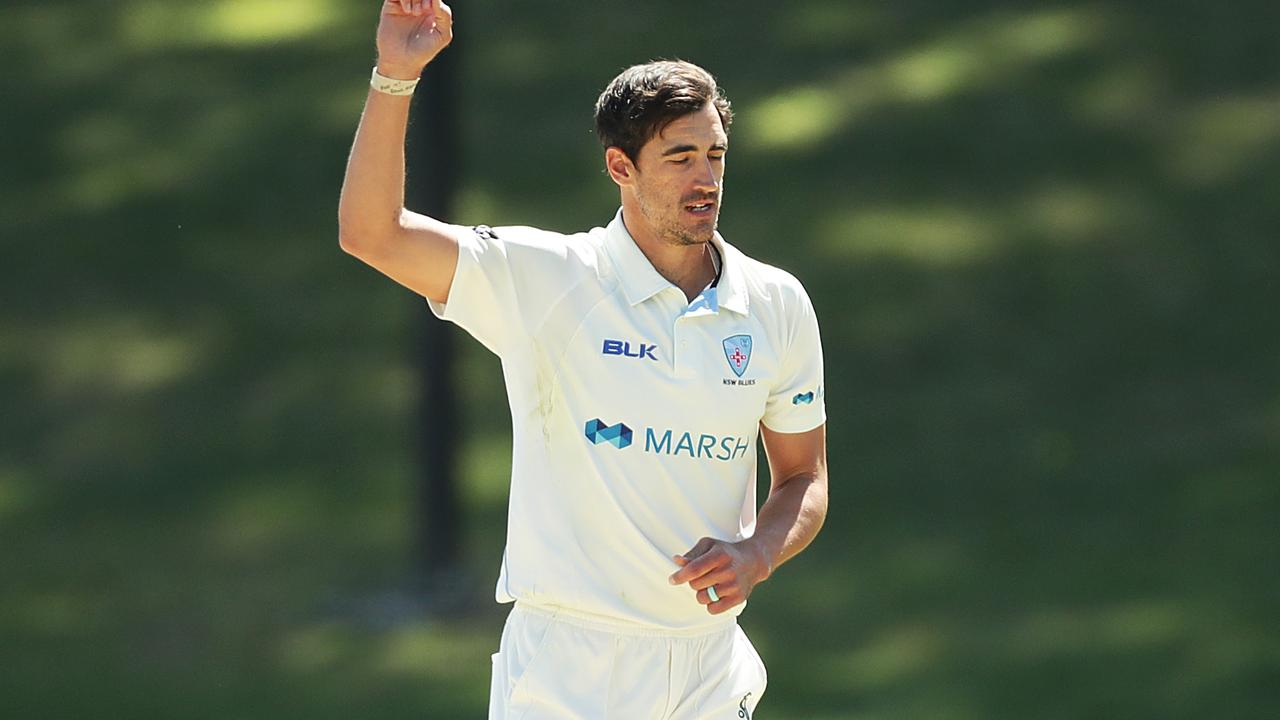 Mitchell Starc finished with 10 scalps against Tasmania.