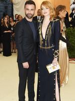 Emma Stone and designer Nicolas Ghesquiere attends the Heavenly Bodies: Fashion and The Catholic Imagination Costume Institute Gala at The Metropolitan Museum of Art on May 7, 2018 in New York City. Picture: Getty Images