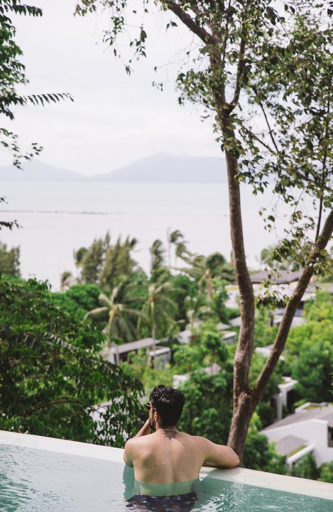 W Hotel in Koh Samui is set in dense jungle above the beach. Picture: W Hotels