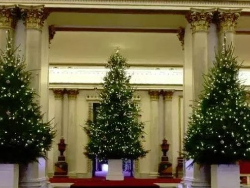 Christmas is taken seriously in Buckingham Palace, pictured here last year. Picture: Supplied