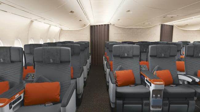 Premium economy: the love child of business and economy classes. Picture: Singapore Airlines