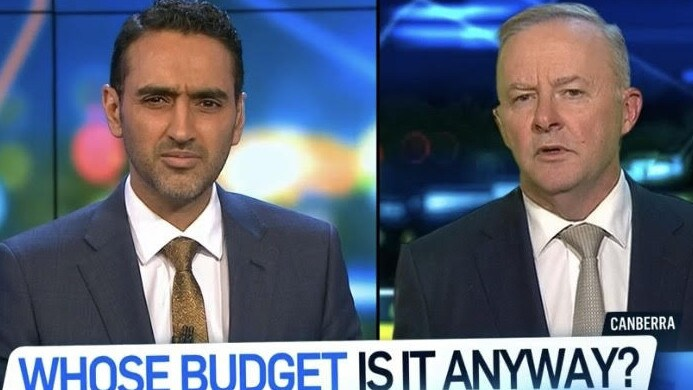 Waleed has copped backlash for cutting Anthony off during the interview. Picture: Channel 10