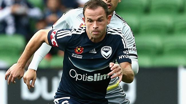 Leigh Broxham has played the most games for one club in the A-League. Picture: Getty