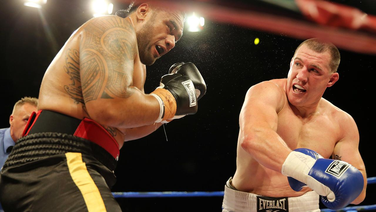 Paul Gallen was too good for Junior Paulo. Picture: Craig Greenhill
