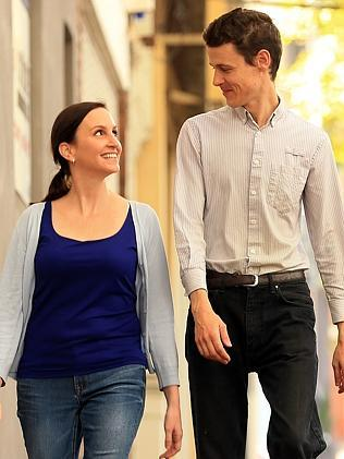 Lucy Albertella and Jeremy Costello are looking for love in Sydney. Picture: Sam Ruttyn