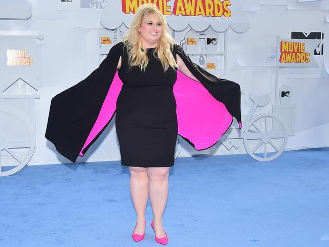 Rebel Wilson sure doesn't look like she lacks confidence. Picture: Frederic J. Brown / AFP