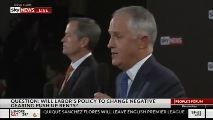 Turnbull: The real estate agents are all at one