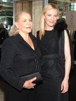 """Lauren Bacall and Cate Blanchett attend a special screening afterparty for """"Elizabeth: The Golden Age"""" in New York City. Picture: Getty"""