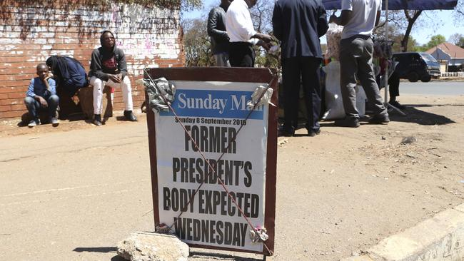 Days of official mourning have begun in Zimbabwe for Robert Mugabe. Picture: AP