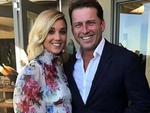 Jasmine Yarbrough and Karl Stefanovic pictured together at their commitment ceremony held in March.