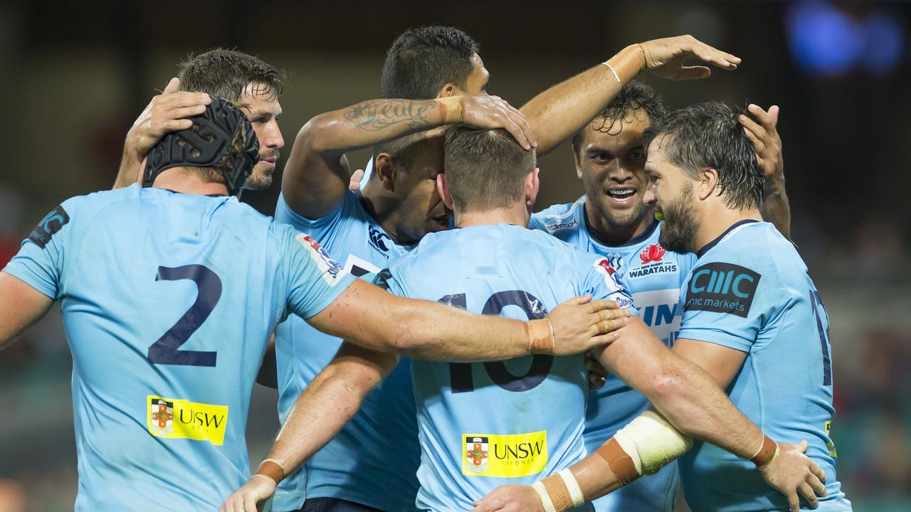 The Waratahs are celebrating a hard-fought win over the Rebels without their star fullback Israel Folau.