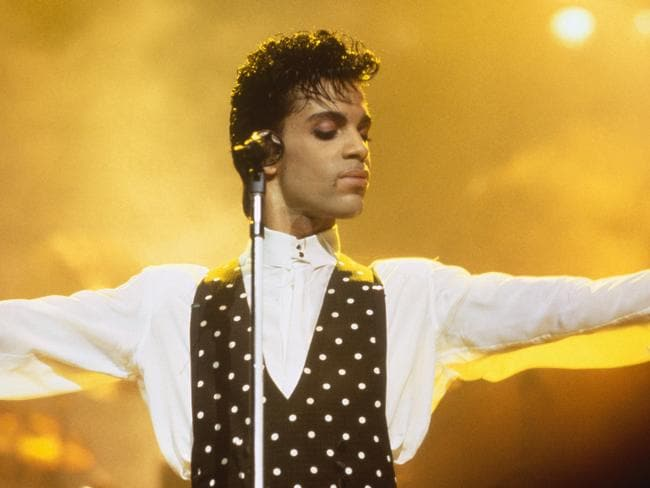 Prince in concert, August 1986. Picture: Ross Marino/Sygma/Corbis