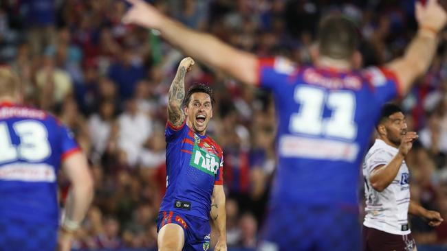 Pearce has been critical in Newcastle starting the season with two straight wins. Photo: Brett Costello
