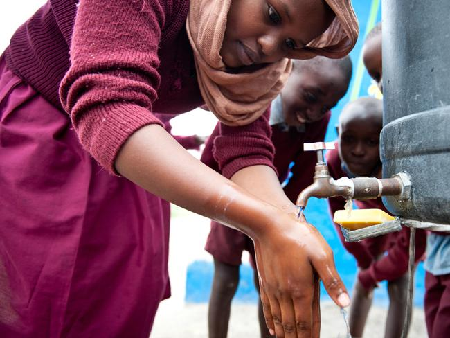 Oxfam used donations to install new taps into over ten schools in Nairobi. Picture: Oxfam Australia
