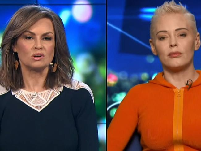 Rose McGowan said the #MeToo movement has taken a toll on her. Picture: The Project