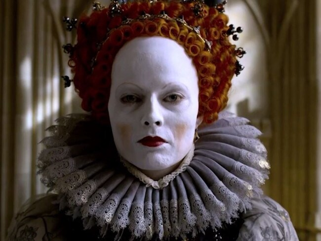 Margot Robbie as Queen Elizabeth I in Mary Queen of Scots. Picture: Focus Features