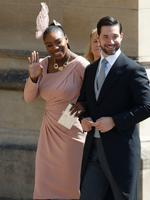 Meghan Markle's friend, US tennis player Serena Williams (L) and her husband US entrepreneur Alexis Ohanian (R) arrive for the wedding ceremony of Britain's Prince Harry, Duke of Sussex and US actress Meghan Markle at St George's Chapel, Windsor Castle, in Windsor, on May 19, 2018. Credit: AFP PHOTO / POOL / Odd ANDERSEN