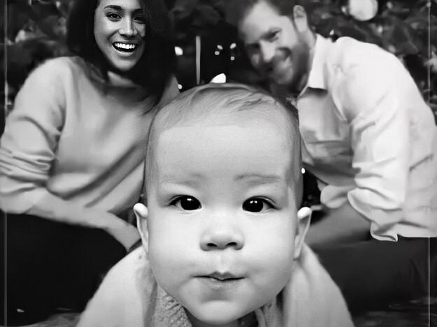 prince harry and meghan share baby archie photo to mark 2020 prince harry and meghan share baby