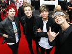 5 Seconds of Summer. Red Carpet arrivals of celebrities at the 2014 ARIA Awards. Picture: Bradley Hunter