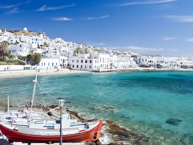 Mykonos is a stunning Greek island popular with tourists, but many have complained about rip-off restaurants. Picture: iStock