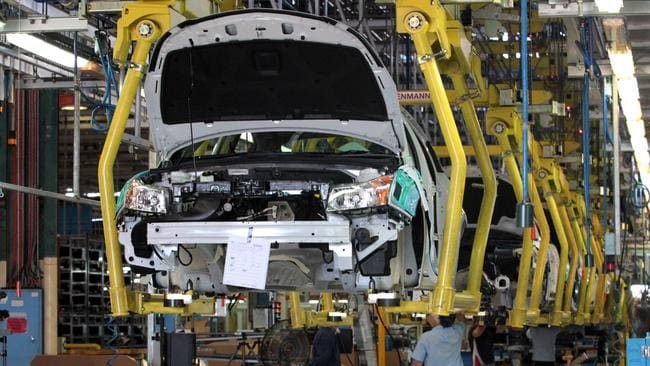 The first Holden Cruz hatch on the production line at the Holden plant in Elizabeth, South Australia.