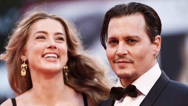 Amber Heard and Johnny Depp in happier times. Picture: Ian Gavan/Getty Images