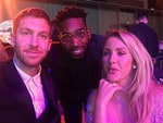 Calvin Harris, Tinie Tempah and Ellie Goulding at the GQ Men Of The Year Awards 2016 in London. Picture: Instagram