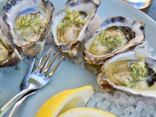 Try some of the fresh oysters. Picture: Jenifer Jagielski