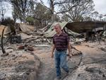 Kerry Northey at his damaged property on Watts rd Picture: Brad Fleet