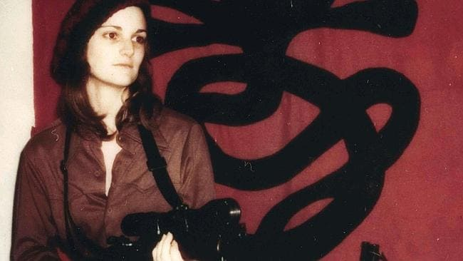 Kidnapped ... Heiress Patty Hearst aka Tanya featured in a 2005 documentary film 'Guerilla: The Taking of Patty Hearst'. here she is seen armed with machine gun following her 1975 kidnapping.