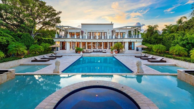 Ivanka Trump and Jared Kushner reportedly purchased this Florida home for $33 million. Picture: Realtor.com