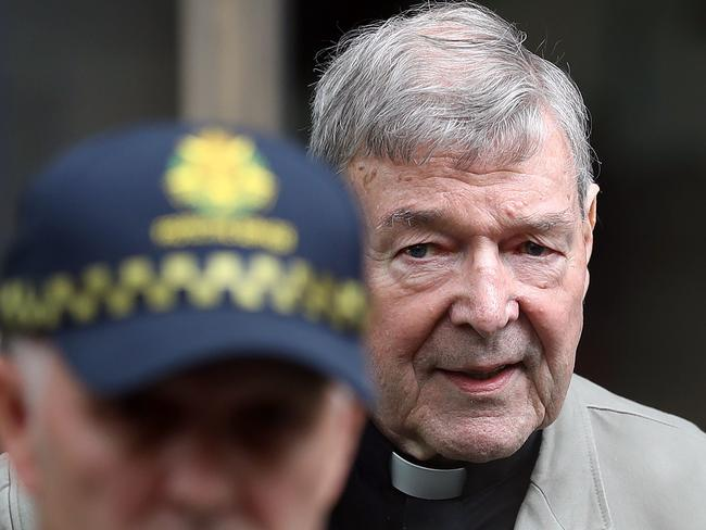 Cardinal George Pell's old age will not protect him in prison. Picture: Con Chronis