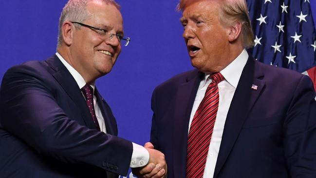 Scott Morrison just finished a state visit to the United States. Picture: Saul Loeb/AFP