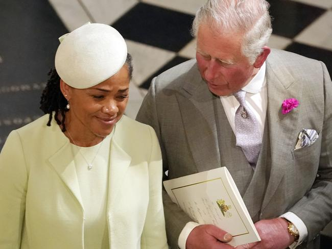 Prince Charles and Doria Ragland at the wedding ceremony.