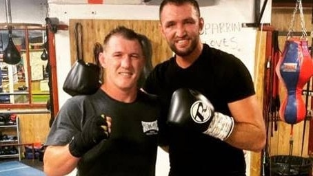 Paul Gallen took his training to England to spar with Hugh Fury.