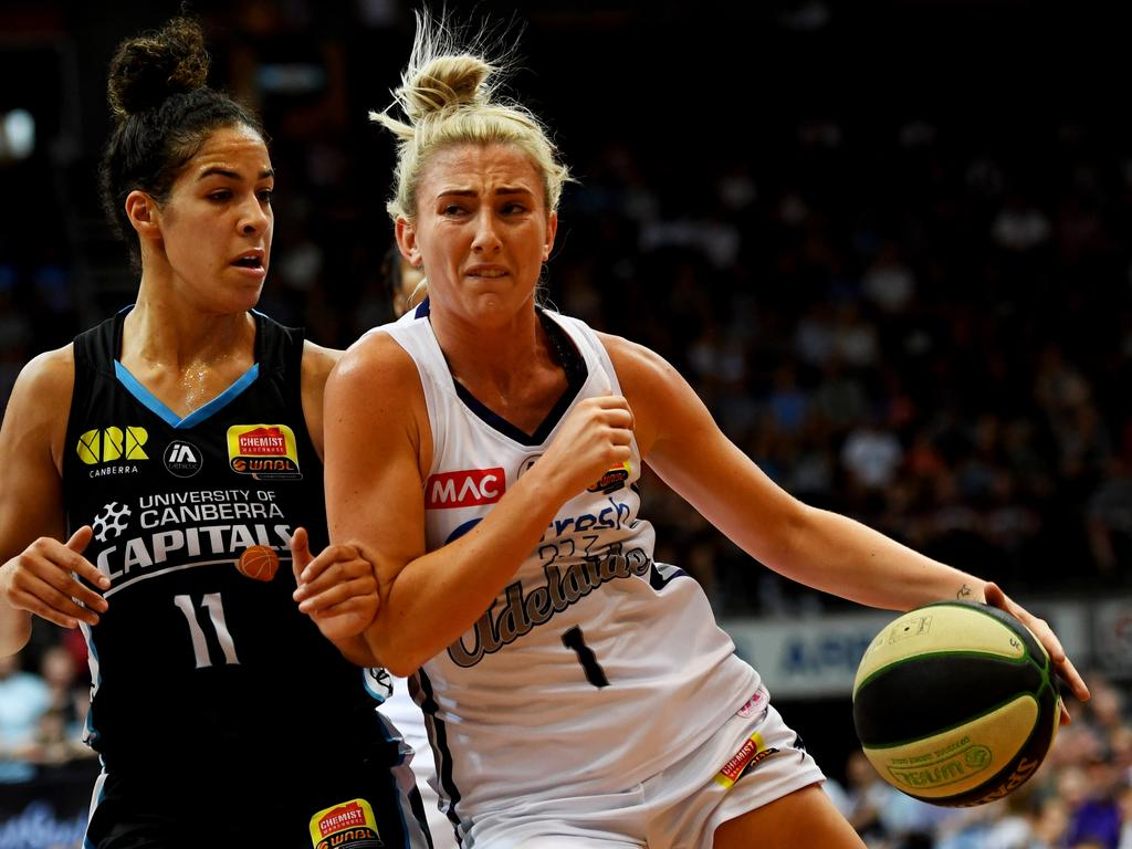 Lauren Nicholson of Adelaide Lightning was one of the WNBL's most improved players last season. Picture: Tracey Nearmy
