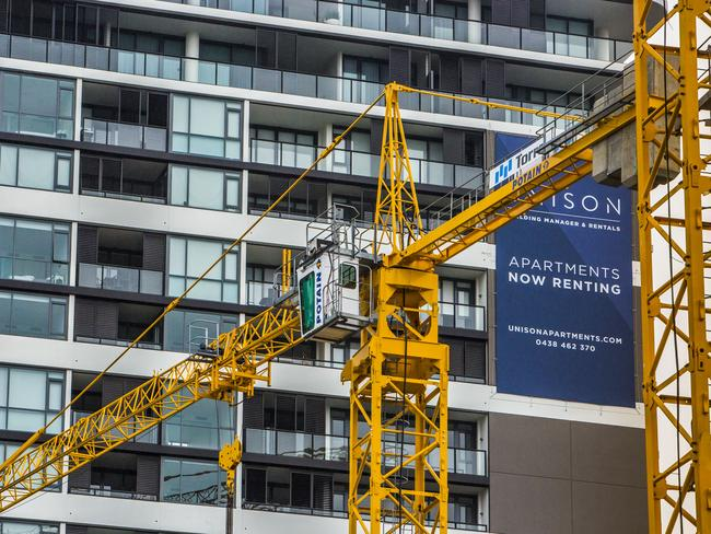 Apartment construction in Brisbane is in overdrive and the RBA has fears about the impact of an oversupply. Photo: Glenn Hunt
