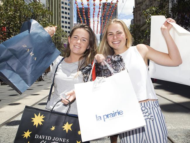 Australian shoppers are expected to spend more than $50 billion over the Christmas period. Picture: Sarah Matray