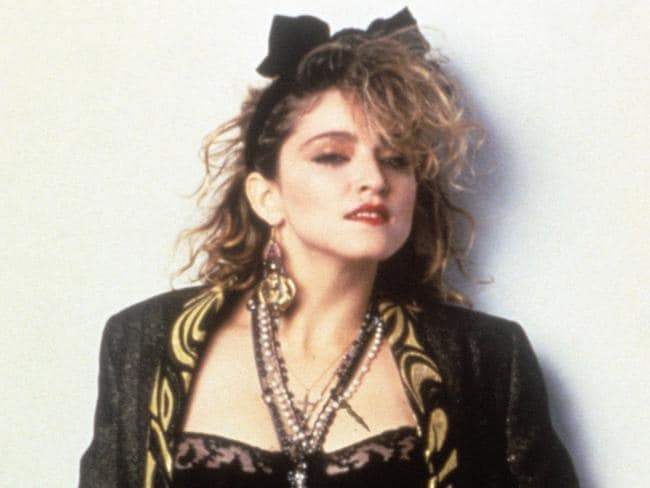 Madonna on the set of her 1985 film Desperately Seeking Susan ... fans are hoping her new tour will include some songs from the earlier part of her career. Picture: Mondadori Portfolio via Getty Images