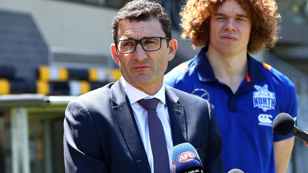 Travis Auld has the tough job of juggling the AFL's fixture during the coronavirus crisis. Picture: AFL Media/Getty Images